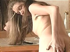 Nasty brunette strips ... video