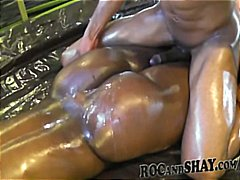 Ebony chick shows off ... video