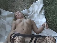 Blonde MILF with fake ... video