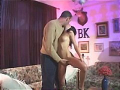 Brunette Veronica puts his cock in all of her ready fuck holes