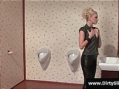 Hot blonde sees a dild...