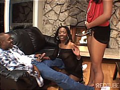 Two ebony babes get it... video