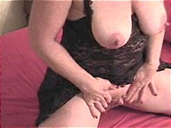Busty mature with a ve... video