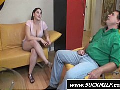 young, threesome, older, daughter, blowjob, milf