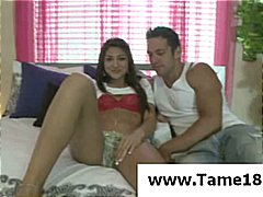 Horny Asian MILF gets seduced, chaine...