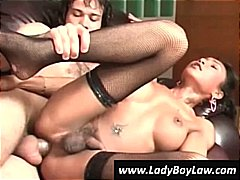 Nuvid Movie:Asian shemale gets his ass fuc...