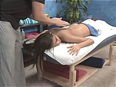 Nuvid - Brunette strips down f...