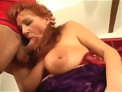 Busty mom takes on two young boys and...