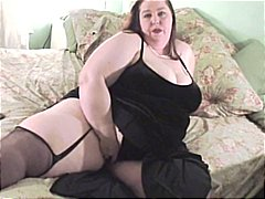 Sexy SSBBW plays and tit fucks a big ...