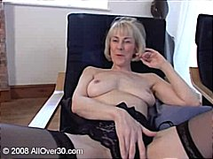 masturbating, mature, fingering, maid, granny