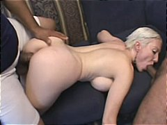 dildo, mature, anal, granny, blowjob, threesome, interracial, cumshot, facial