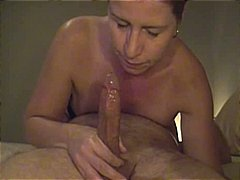 deepthroat, amateur, gagging, milf,