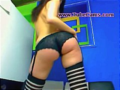 webcam, stripper, stockings, ass,