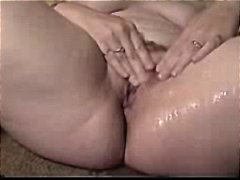 rubbing, mature, fingering, pussy