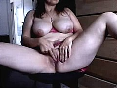 mature, webcam, amateur, solo, brunette, masturbating, tits, fingering, natural boobs, lingerie