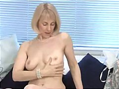 orgasm, older, solo, dildo, blonde, mature, toys, masturbating