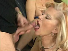 granny, sperm, doggystyle, cumshot,