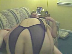 Slutty granny cunt playing and cock f...