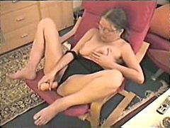 Old wife masturbating ...