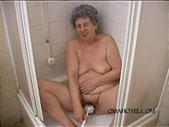 masturbating, granny, fetish, mature, bathroom, toys