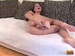 beauty, dildo, anal, pigtail, brunette