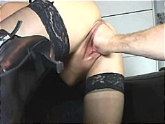 orgasm, blonde, screaming, milf, fisting, stockings, pov point of view, big tits, fetish, corset