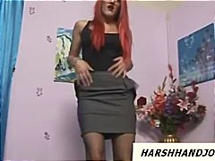 Nuvid Movie:Hot redhead with glasses gives...