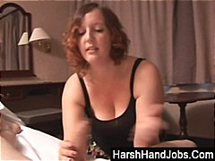 BBW girlfriend slaps boyfriend into s...