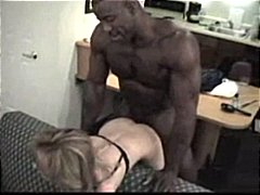 Black Guy Destroys MILF Mature Blonde