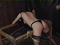 stockings, chained, spanked, orgasm