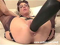 extreme, mature, stockings, fisting