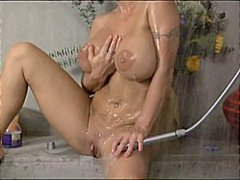 cumshot, shower, hot, blowjob, sex, mature, blonde, milf, cum swallowing