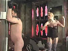 slave, whip, gagging, blonde, spanked