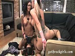 Hot goth chicks play w... video