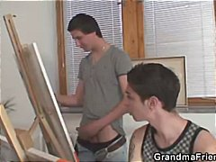 See: Two young painters ban...