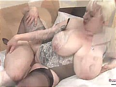 Mature Jo Juggs Gets Big Tits And Pus...