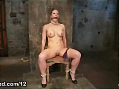 Tube8 - Bound to the chair babe tits flogged in dungeon