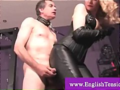 Mistress male slave pet coerced to ma...