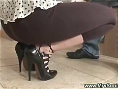 Cuckold watches horny wife
