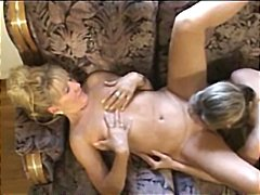 Blonde Teen playing wi...