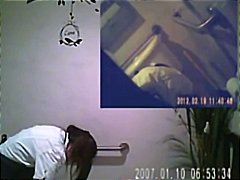 Thumb: Spy Cam in Bathroom of...