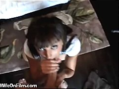 voyeur, brunette, blowjob, job,
