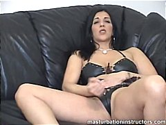 Masturbation instructor demos jerk of...