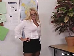 Blonde COugar Teacher Fucks Bad Stude...