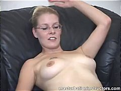 naked, milf, glasses, masturbation