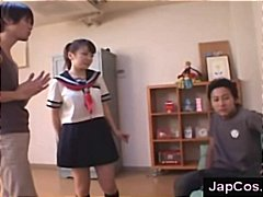 Japanese schoolgirl in...