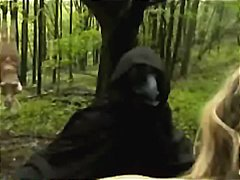 Tube8 - Bound extended babes fucked in forest by masked men