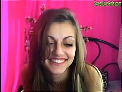 brunette teen playing with a pink dildo4.wmv