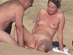 Very hot and sexy French couple on beach  Hidden cam