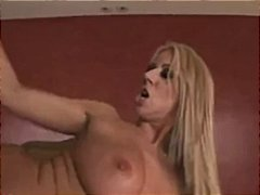big tits, pornstar, blonde, rubbing